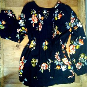 Floral Pheasant Style Top